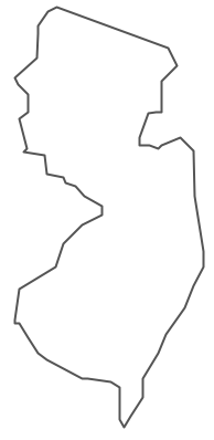 Geo Map - USA - New Jersey Contour