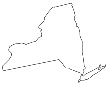 Geo Map - USA - New York Contour