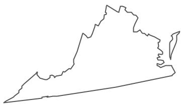 Geo Map - USA - Virginia Contour