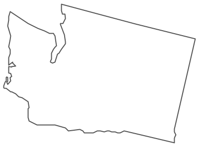 Geo Map - USA - Washington Contour