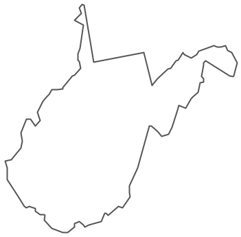 Geo Map - USA - West Virginia Contour