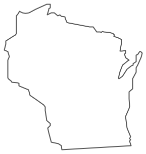 Geo Map - USA - Wisconsin Contour