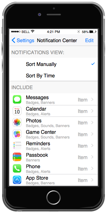 iPhone User Interface Solution - Settings Included Apps