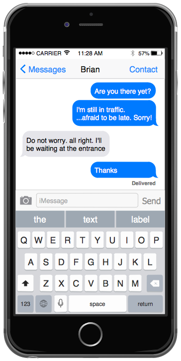 iPhone GUI Interface — Messages