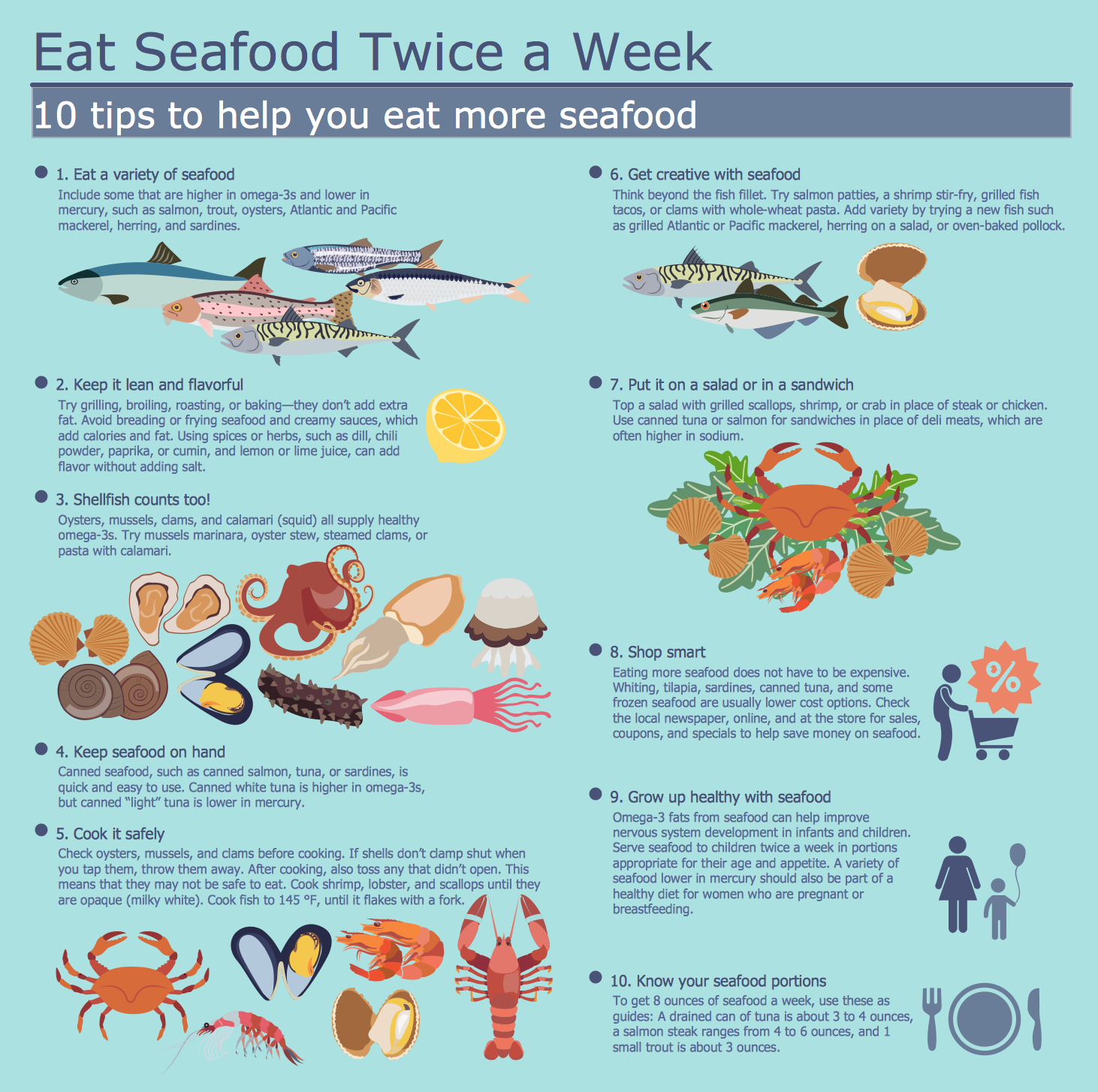 Healthy Diet  Eat More Seafood