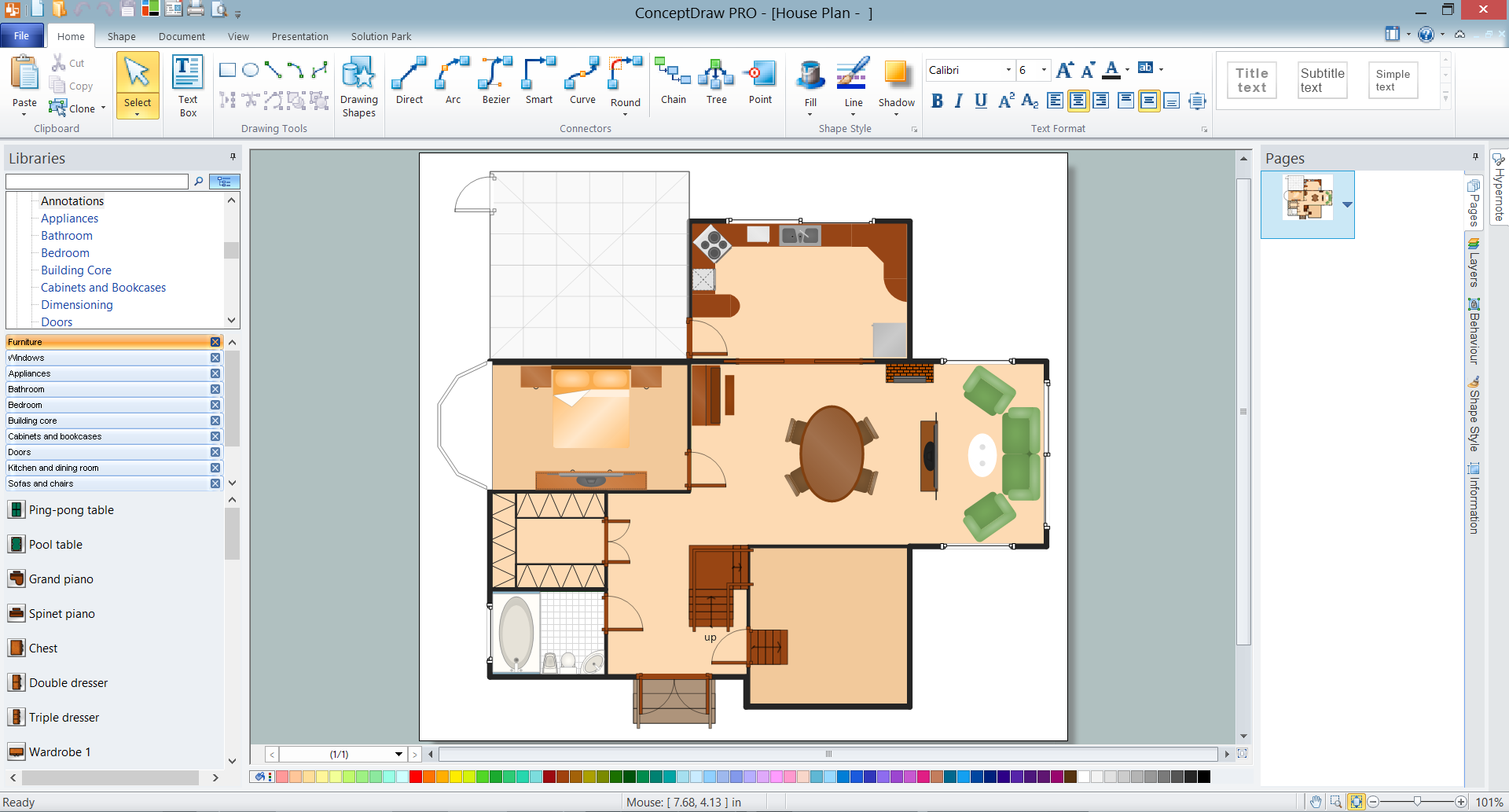 Home Plan in ConceptDraw DIAGRAM for PC