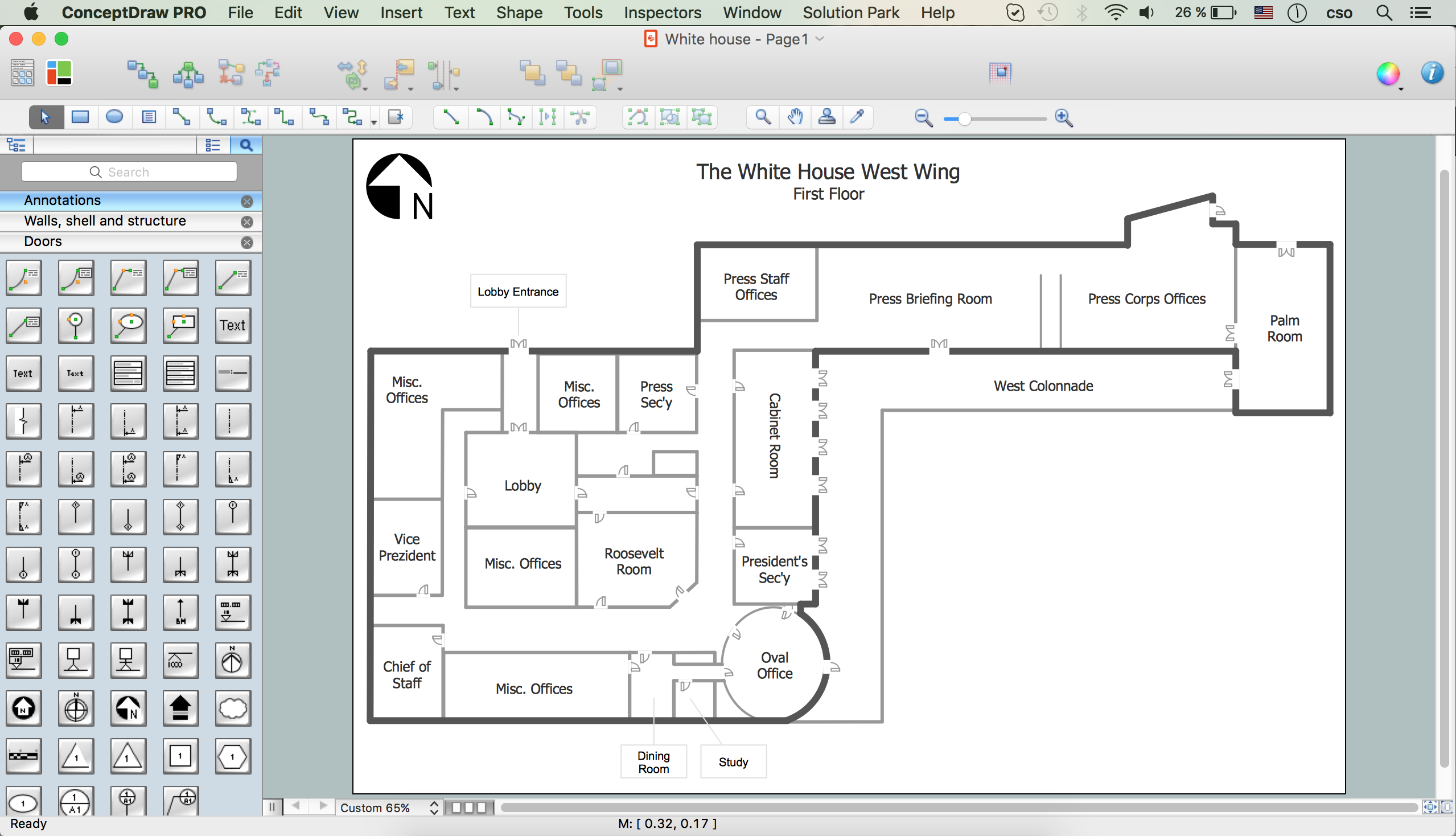 White House Design in ConceptDraw DIAGRAM for Mac