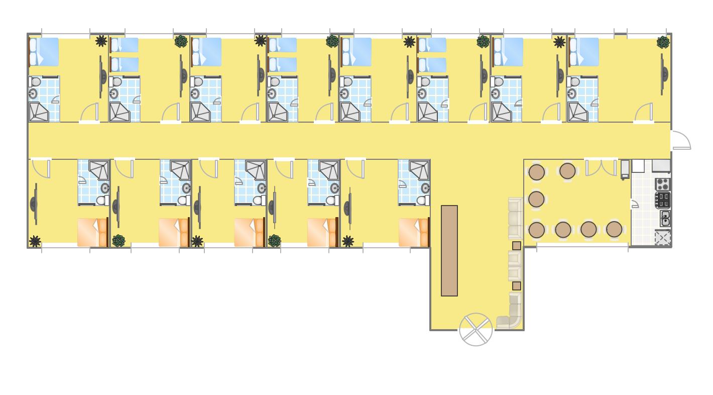 Hotel plan for Free office layout design