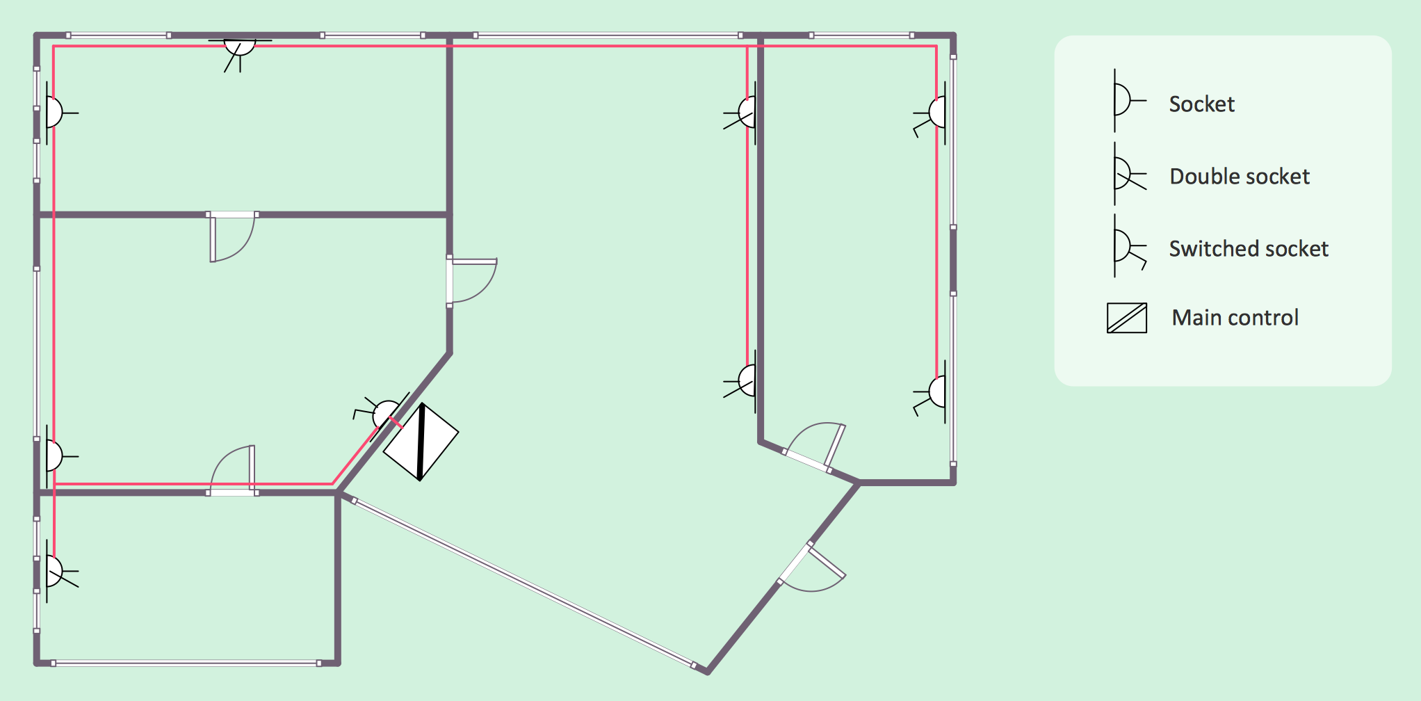 House Electrical Plan Software Diagram Help Requested For Changing Double Switch To Two Singles