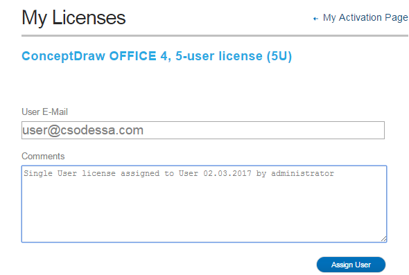 ConceptDraw multi-user license management