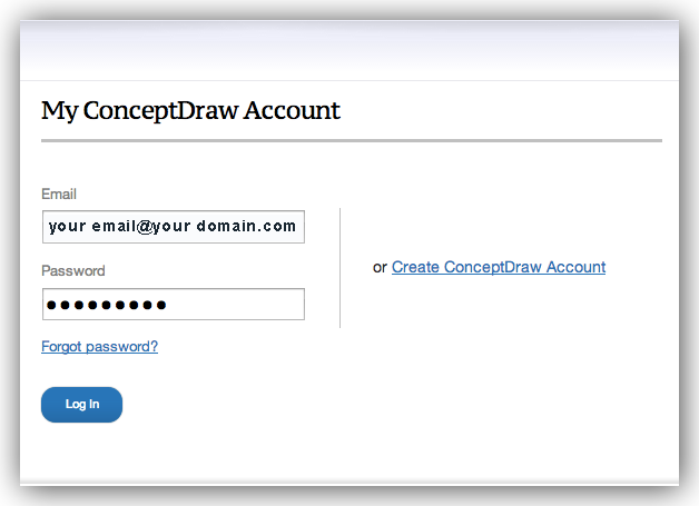 ConceptDraw account
