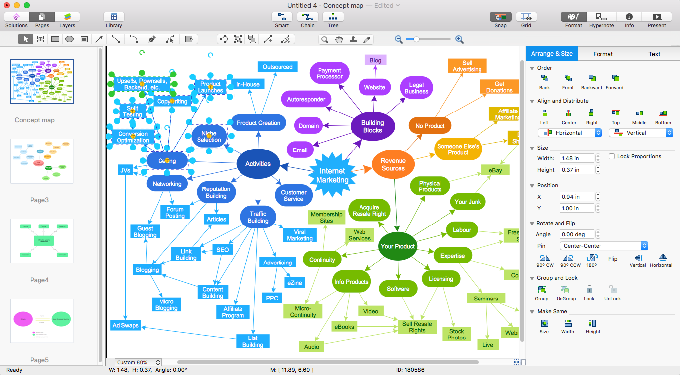 How To Convert A Concept Map To Adobe PDF