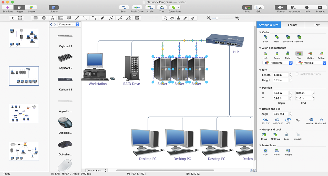 Convert a Computer Network Diagram to PDF | ConceptDraw HelpDesk