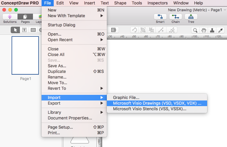 import vsio vdx to conceptdraw - Visio Open