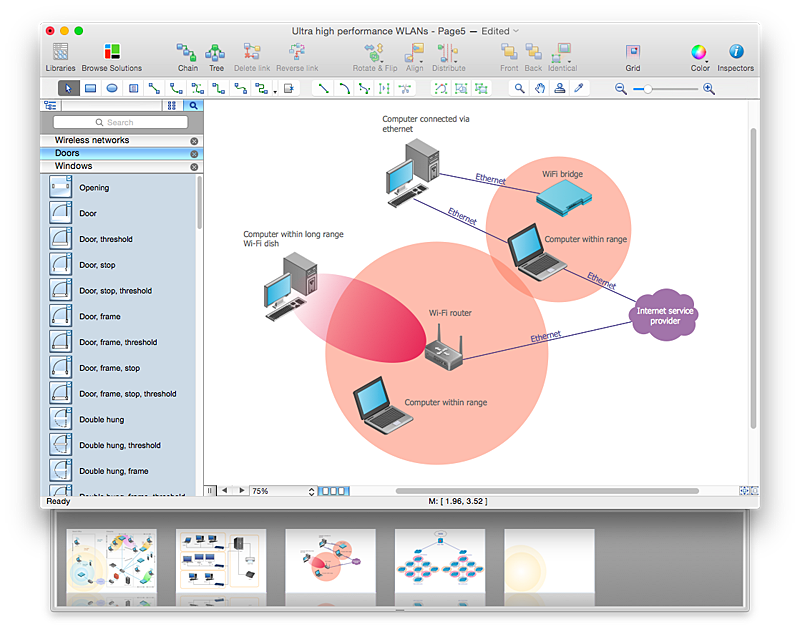 business wireless network diagram convert computer network diagram to adobe pdf| conceptdraw helpdesk #10