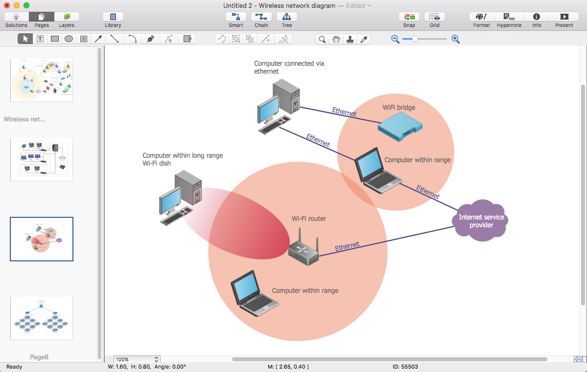 convert computer network diagram to pdf | conceptdraw helpdesk typical wireless network diagram conceptdraw network diagram wireless #9