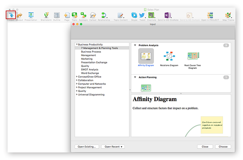 Creating Affinity Diagram Conceptdraw Helpdesk