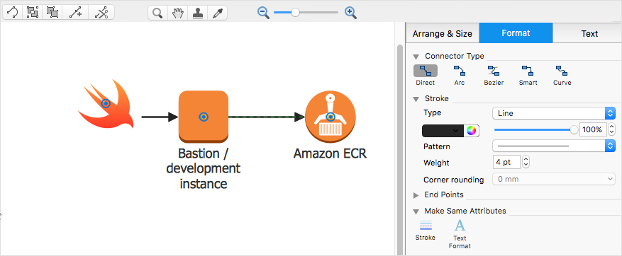 Creating Aws Architecture Diagram Conceptdraw Helpdesk