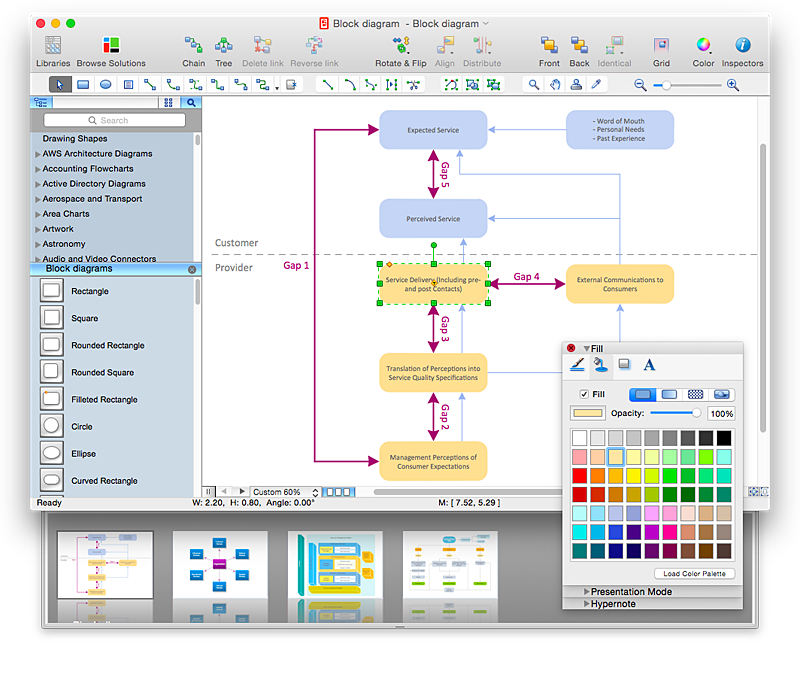 make a powerpoint presentation of a block diagram using    conceptdraw block diagram