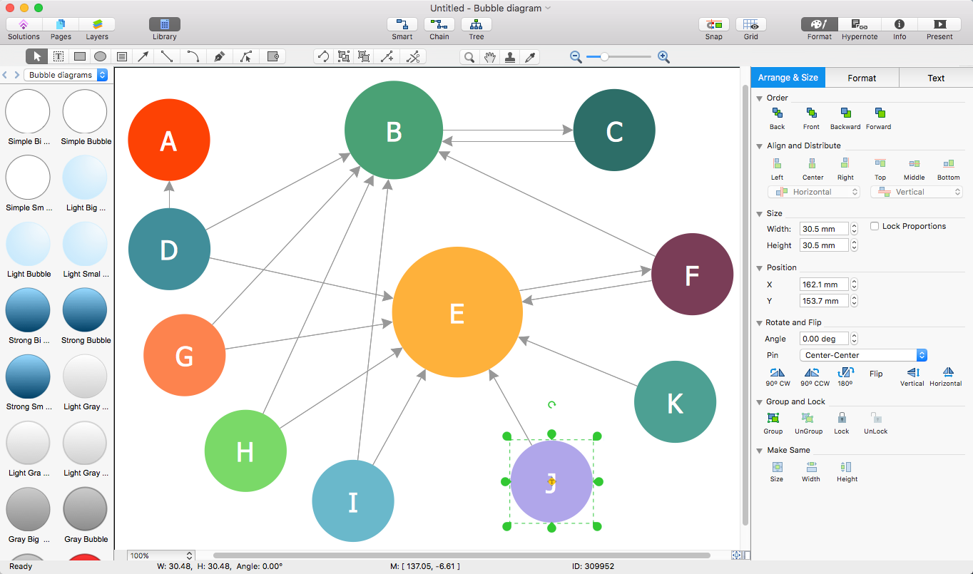 Create visio a bubble diagram conceptdraw helpdesk bubble diagram export to visio ccuart Images