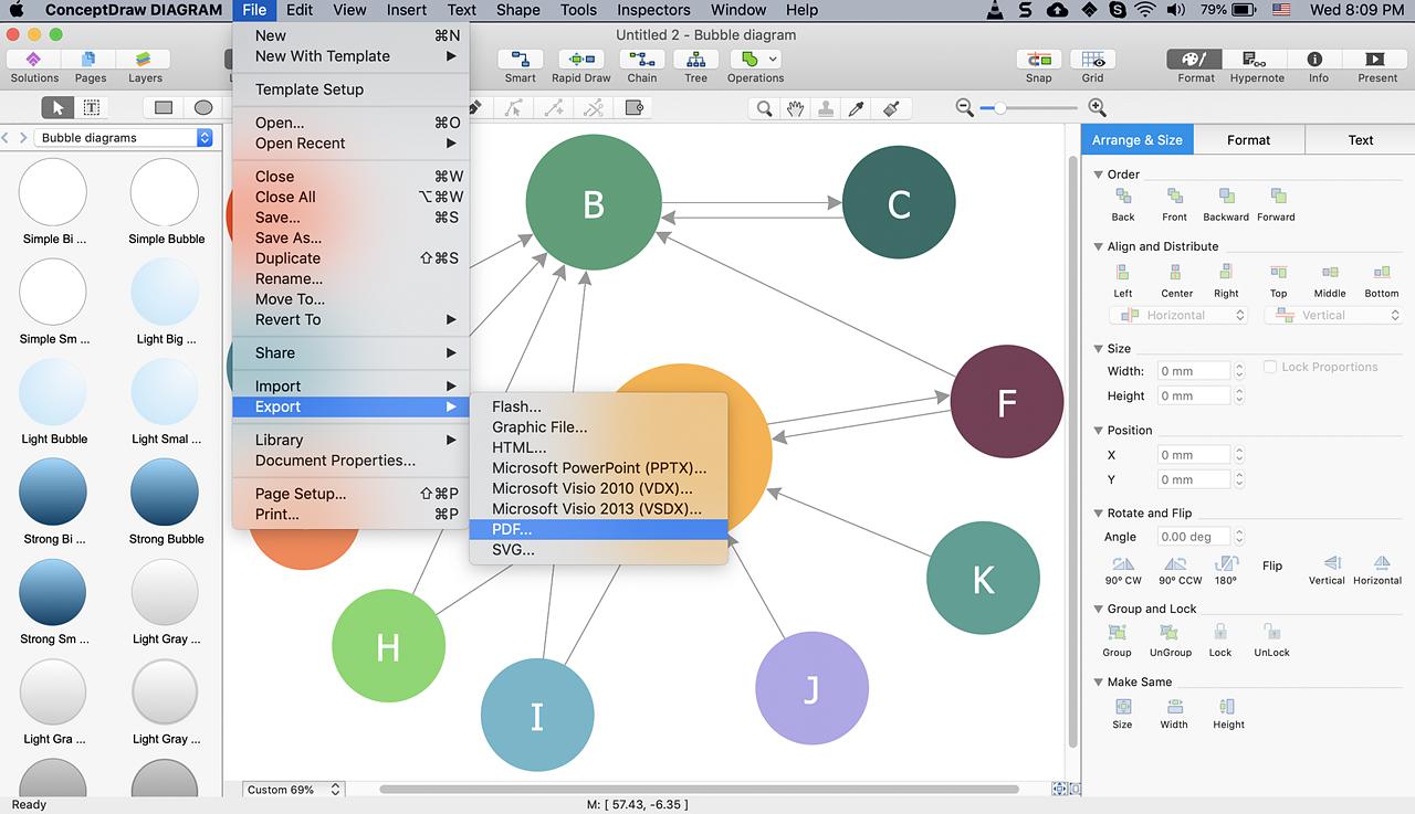 Create Visio A Bubble Diagram
