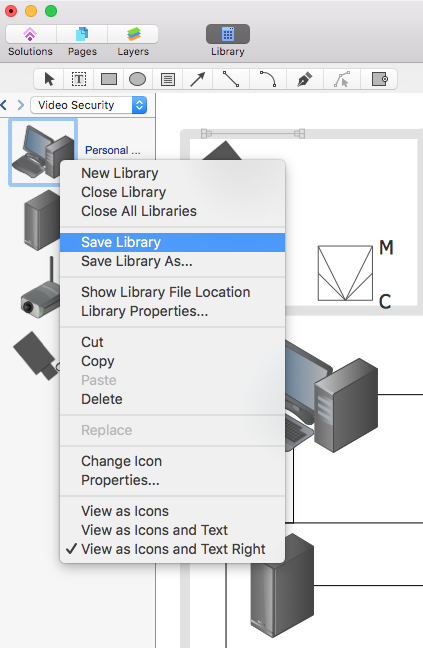 conceptdraw-create-new-library