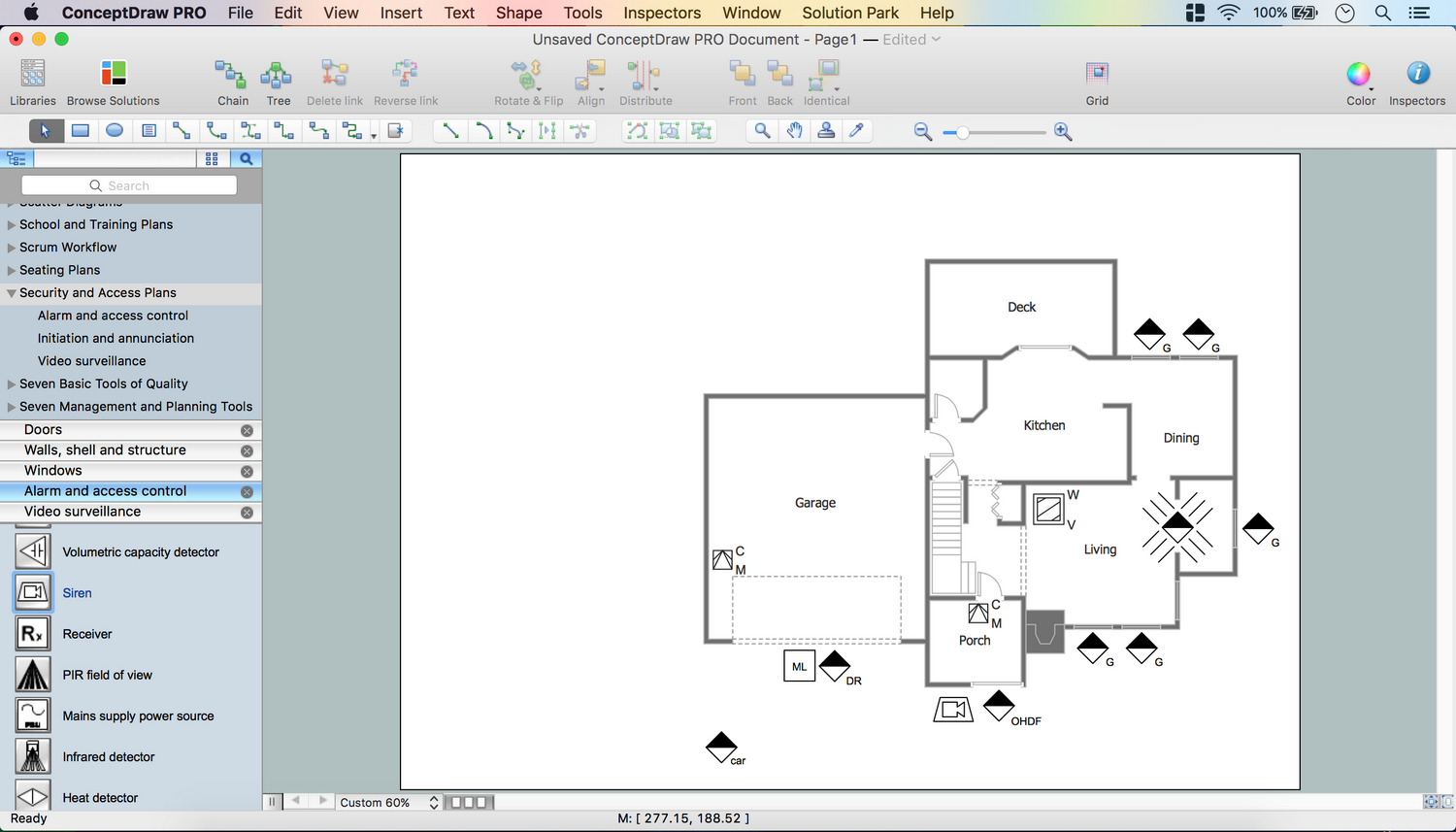 Security Plans How To Create Plan Diagram Conceptdraw Pro Network Tool Draw A