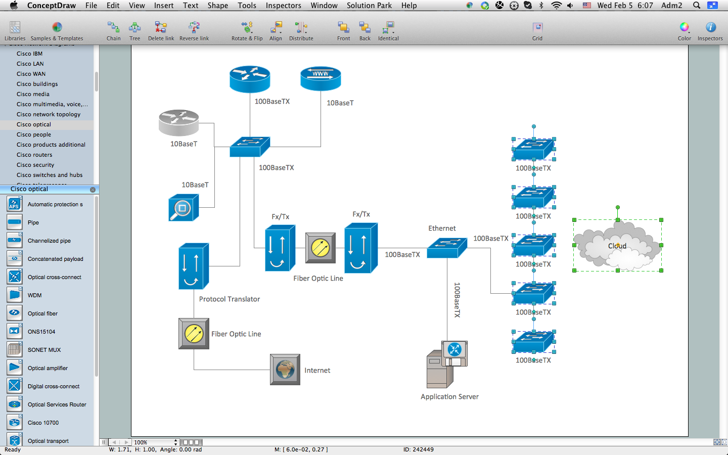 Pic. 1. How to Create Cisco Network Diagram