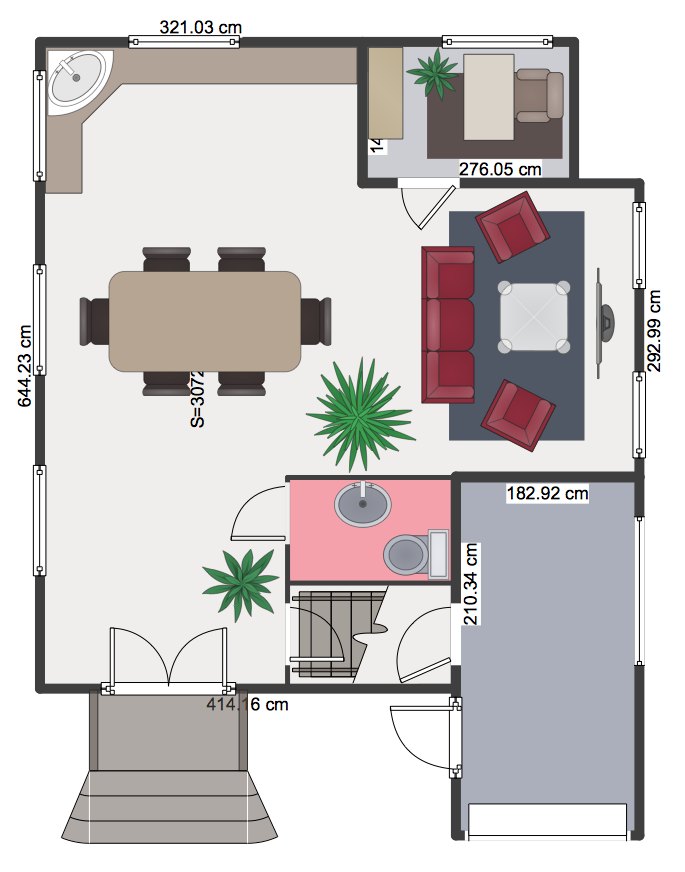 How to Create a Floor Plan Using ConceptDraw PRO Network Layout