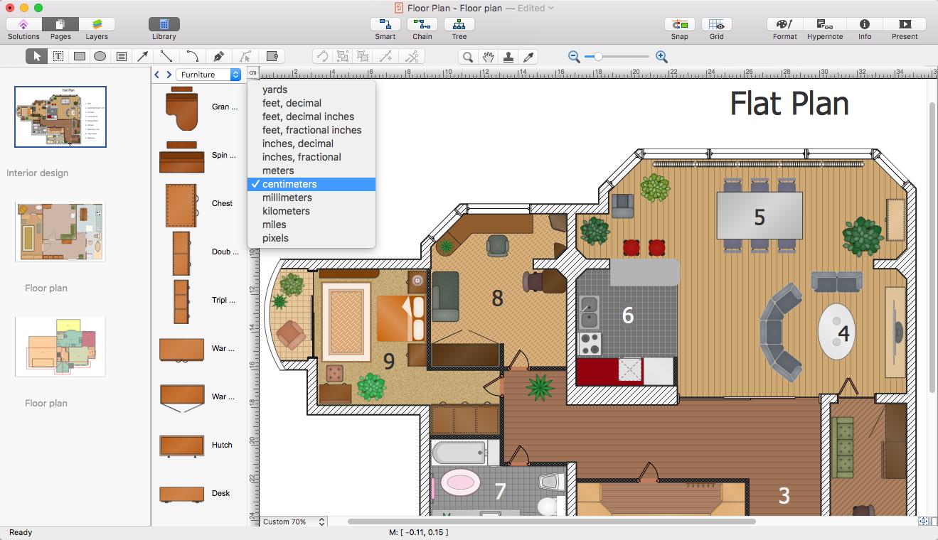 PowerPoint Presentation of a Floor Plan | ConceptDraw HelpDesk