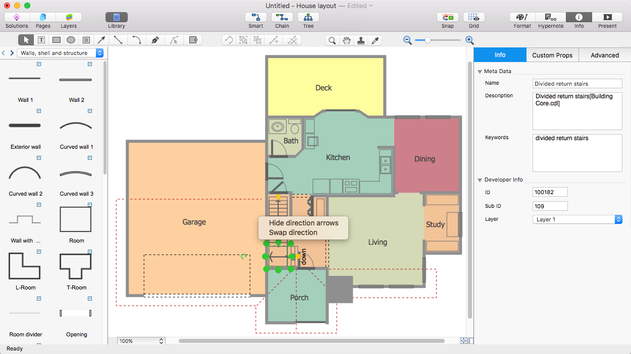Create a visio floor plan conceptdraw helpdesk How to make a floor plan