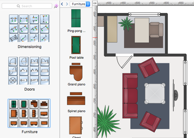 Create Your Floor Plan Using Objects From The Proper Libraries. Conceptdraw  Floor Plan
