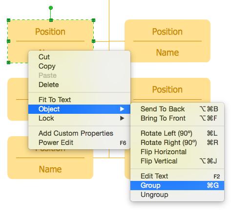 organizational chart edit text