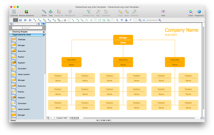 Create a Hierarchical Organizational Chart | ConceptDraw HelpDesk