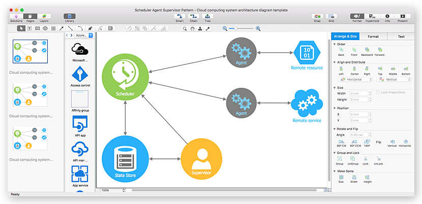 Creating multiple pages diagram