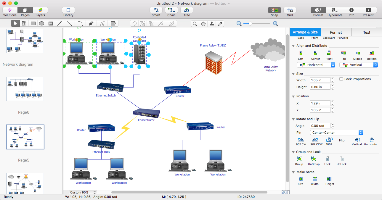 Create powerpoint presentation with a network diagram conceptdraw network topology diagram pooptronica