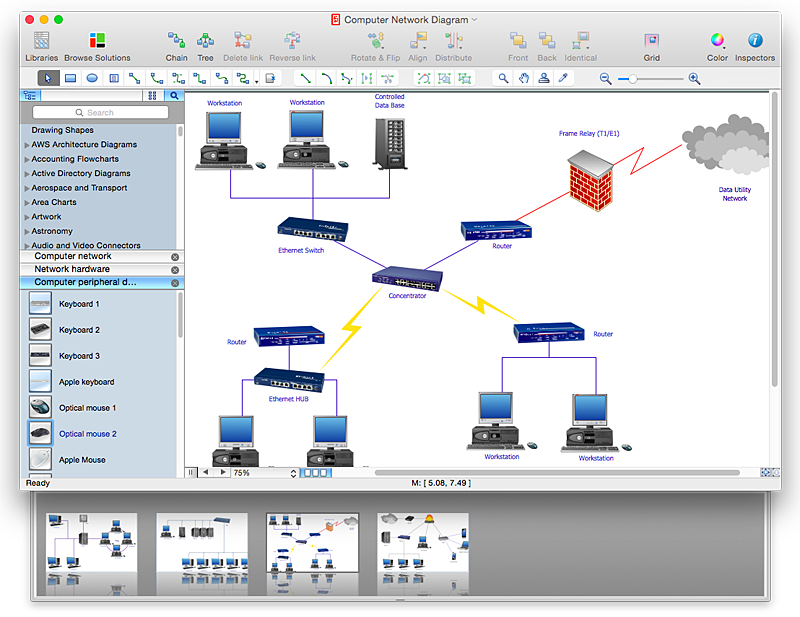 create powerpoint presentation from a network diagram  conceptdraw    conceptdraw network topology diagram