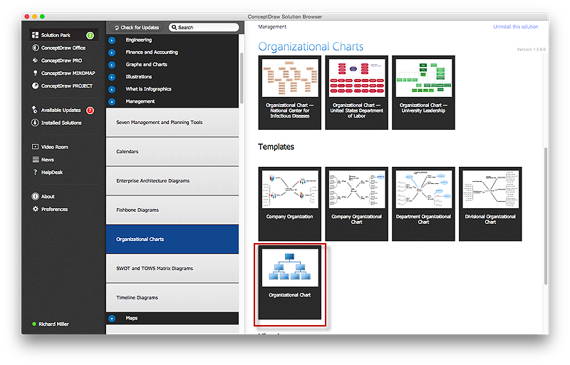 Create an Organizational Chart   ConceptDraw HelpDesk