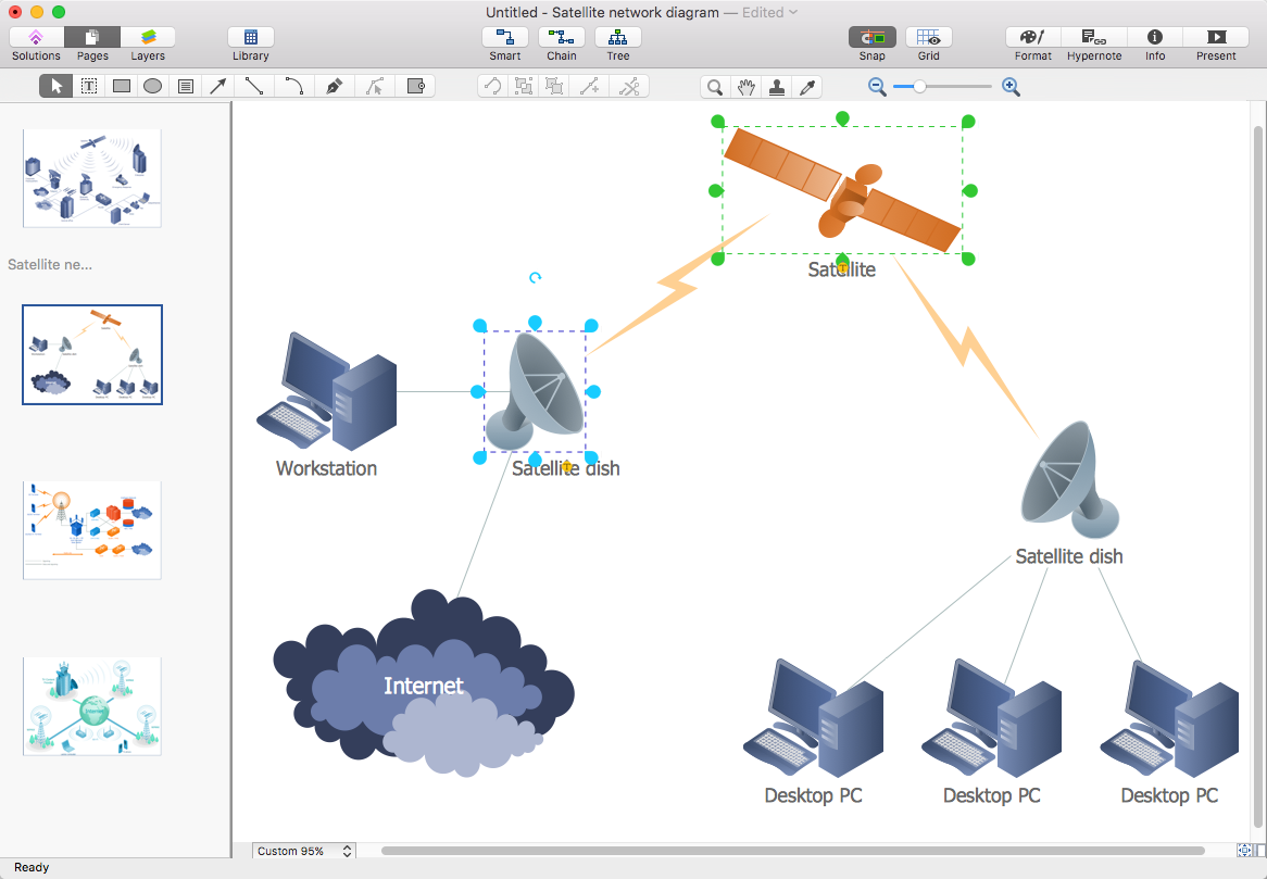 Create presentation from a network diagram conceptdraw helpdesk conceptdraw telecommunication network diagram ccuart Image collections
