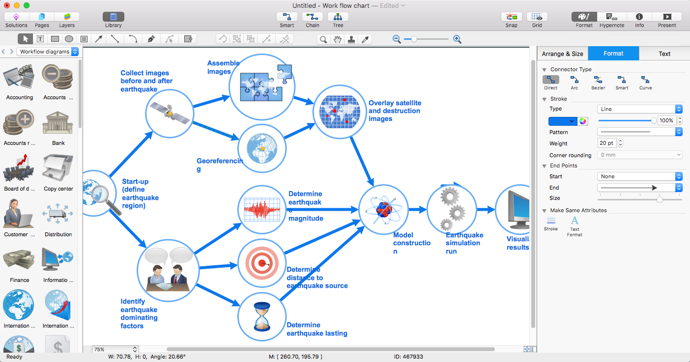 Create visio workflow diagram conceptdraw helpdesk workflow diagram visio ccuart Gallery