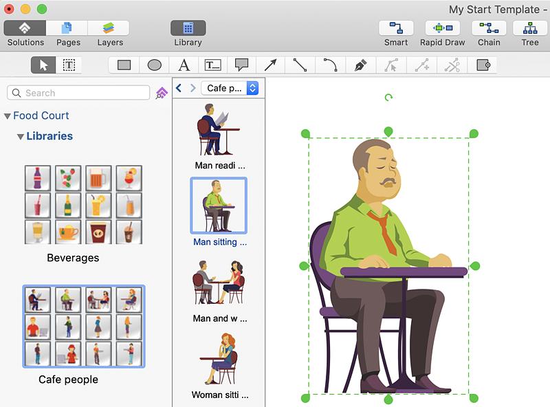 design a menu conceptdraw helpdesk
