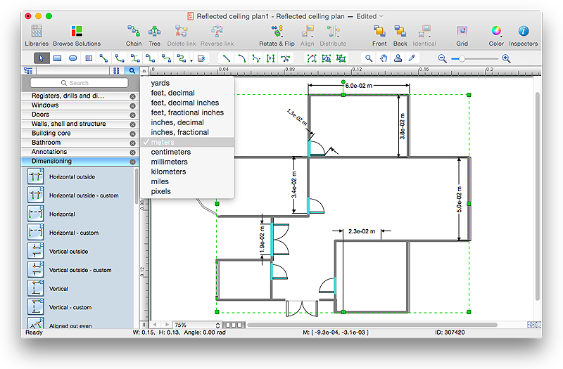 Creating a Reflected Ceiling Floor Plan | ConceptDraw HelpDesk
