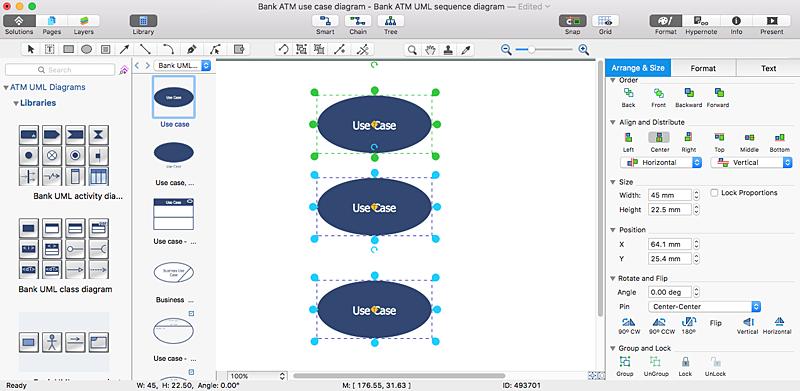 Creating A Bank Atm Use Case Diagram Conceptdraw Helpdesk