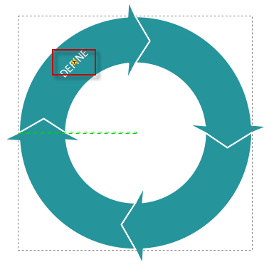 edit circular arrows diagram