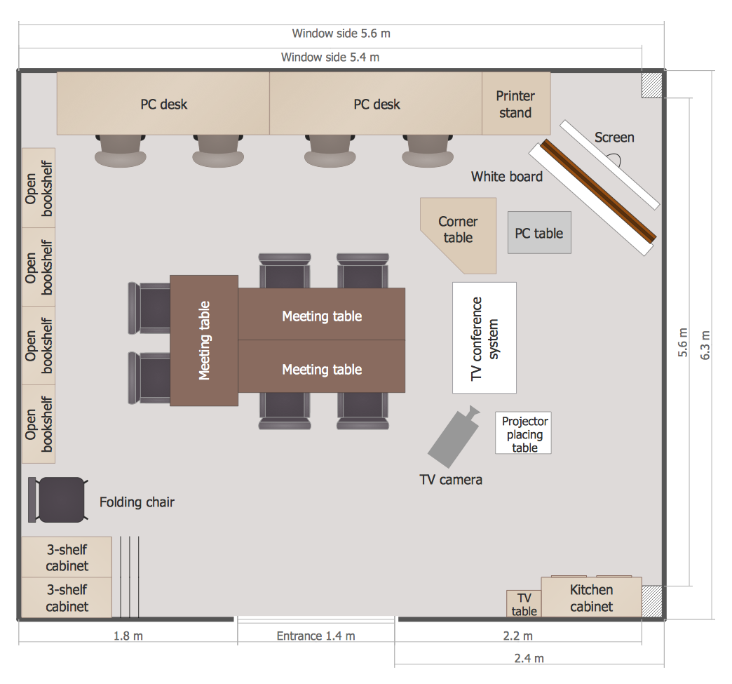 Creating A Classroom Floor Plan Conceptdraw Helpdesk