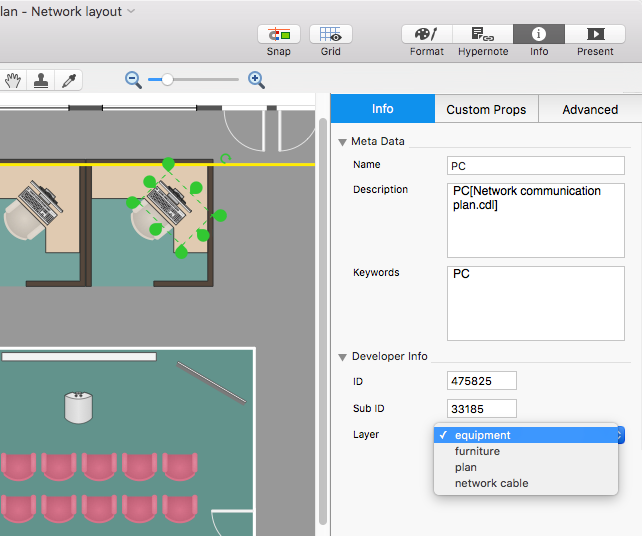 assign layers on mac - Conceptdraw For Mac