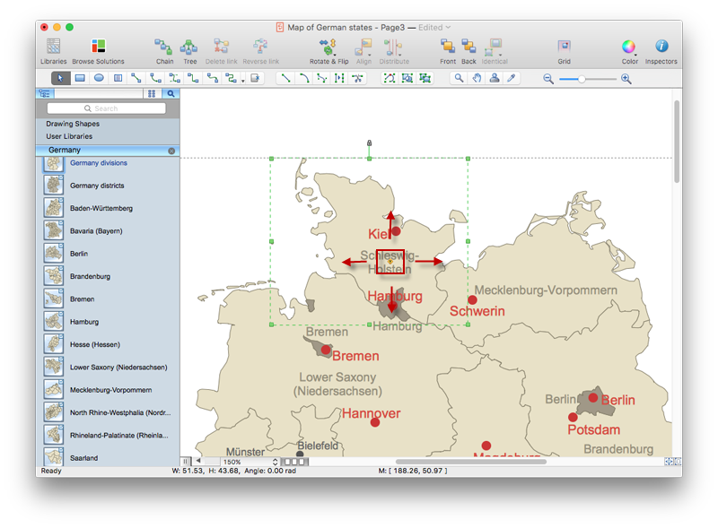 Draw A Printable Map Of Germany ConceptDraw HelpDesk - Germany map drawing