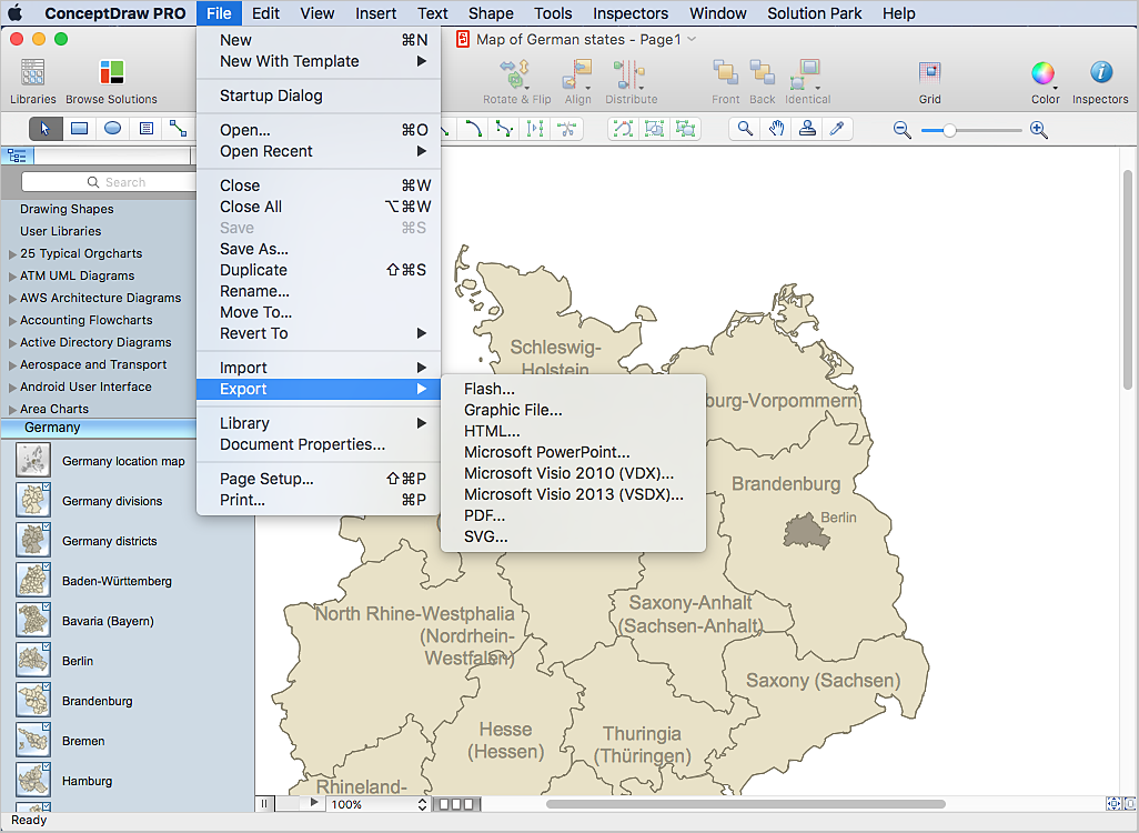 karte von deutschland mit städten