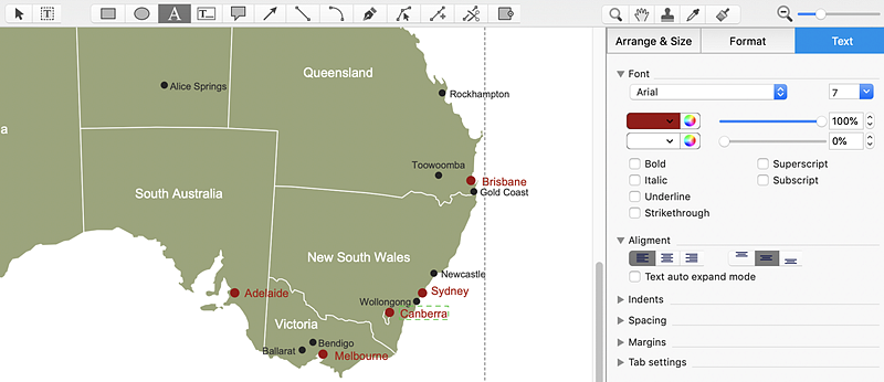 Australia Map States And Territories.Draw A Map Of Australia States And Territories Conceptdraw Helpdesk
