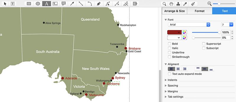 draw Australia map